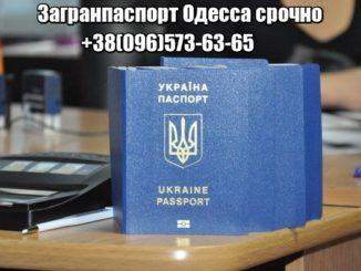 Загранпаспорт Одесса срочно